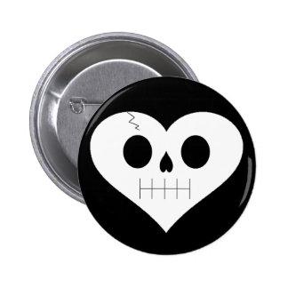 Skull Heart Face Pin