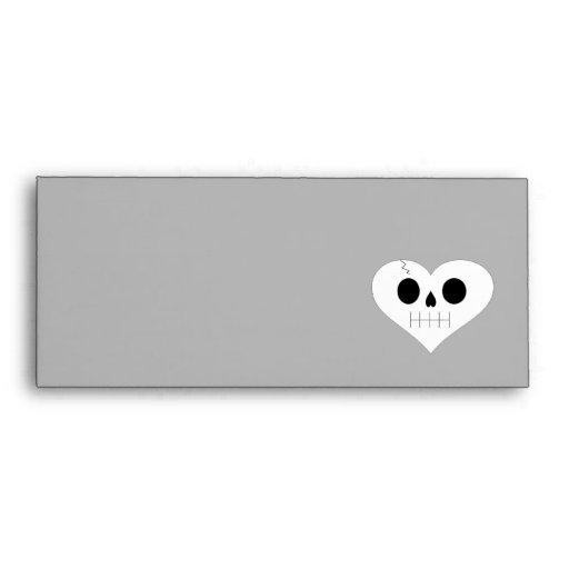 Skull Heart Face Envelopes