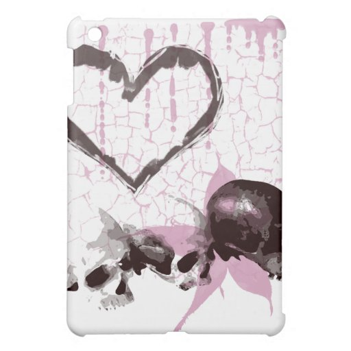 Skull Heart Grunge Design Cover For The iPad Mini