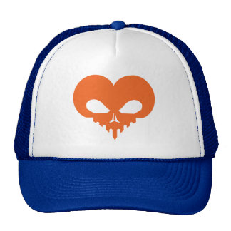 Skull Heart Hat-Orng.ai Trucker Hat
