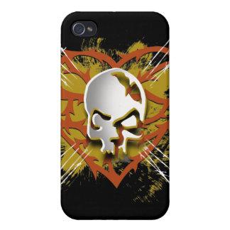 skull heart iPhone 4/4S case