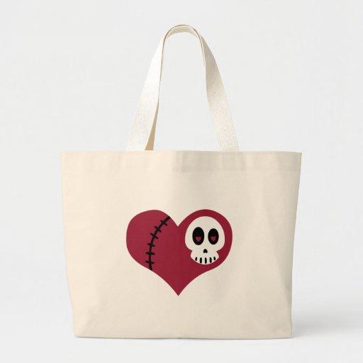 Skull Heart Jumbo Tote Bag