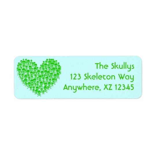 Skull Heart Label