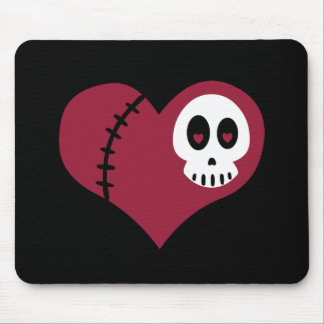 Skull Heart Mouse Pad