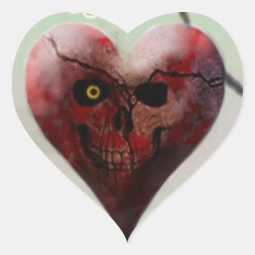 Skull Heart Sicker Heart Sticker
