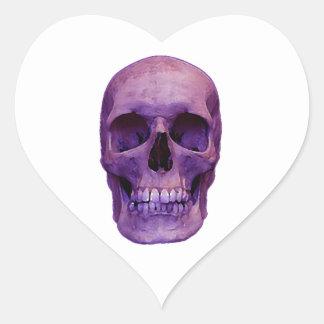 Skull Heart Stickers