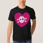 skull heart tee shirt