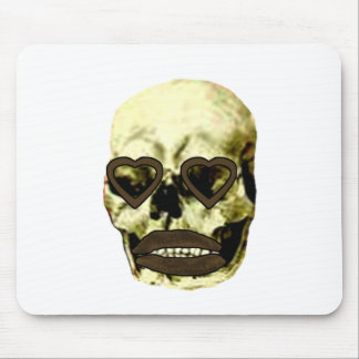 Skull Hearts Gold Kiss The MUSEUM Zazzle Gifts Mouse Pad