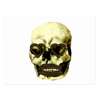 Skull Hearts Gold Kiss The MUSEUM Zazzle Gifts Postcard