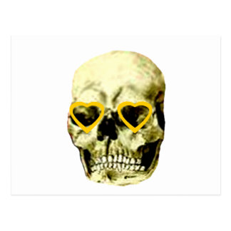 Skull Hearts Gold The MUSEUM Zazzle Gifts Postcard