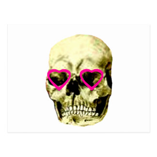 Skull Hearts Magenta The MUSEUM Zazzle Gifts Postcard