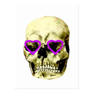 Skull Hearts Purple The MUSEUM Zazzle Gifts Postcard