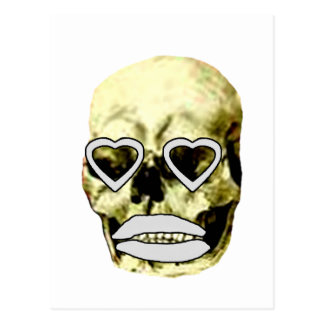 Skull Hearts White Kiss The MUSEUM Zazzle Gifts Postcard