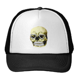 Skull Hearts White Kiss The MUSEUM Zazzle Gifts Trucker Hat