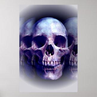 Skull Heavy Metal Fantasy Art Poster