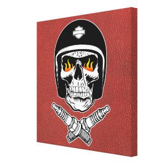Skull Helmet Canvas Print