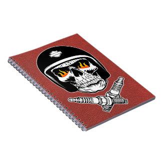 Skull Helmet Spiral Notebooks