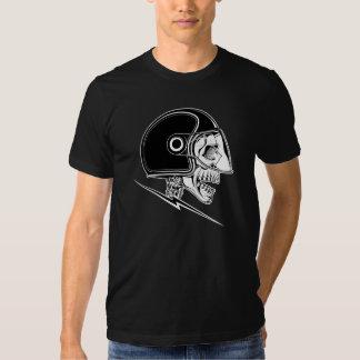 Skull Helmet on Black Shirt