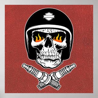Skull Helmet Poster