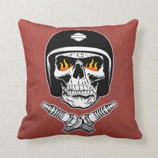 Skull Helmet Throw Pillow