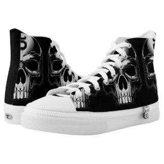 Skull Hi Top Printed Shoes