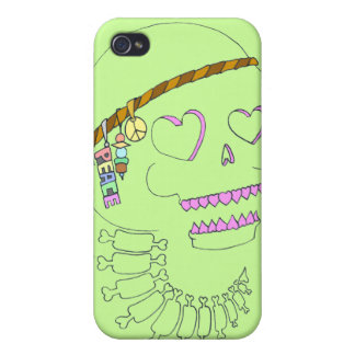 Skull Hippy iPhone 4 Covers
