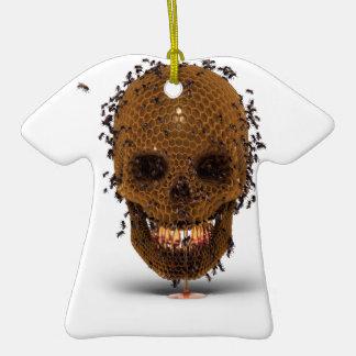 Skull Hive Christmas Ornament