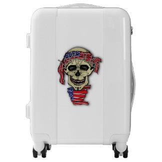 Skull Horror Halloween Luggage