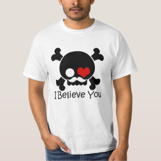 Skull I Believe You Couple Men's T-Shirt