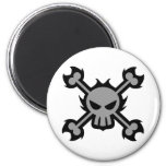 Skull Icon Magnet in Grey Magnets
