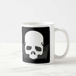 "SKULL ILLUSION ""Cats and mice"" Classic White Coffee Mug"