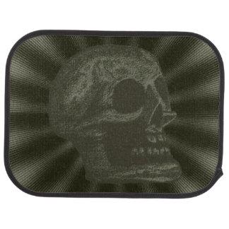 Skull- Illustrated Skull! Deep Green Car Mat
