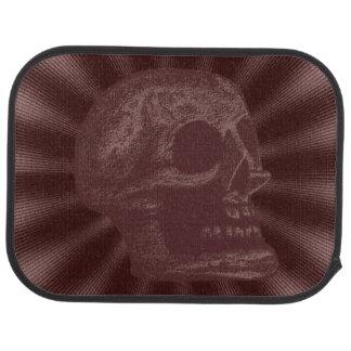 Skull- Illustrated Skull! Deep Red Car Floor Mat