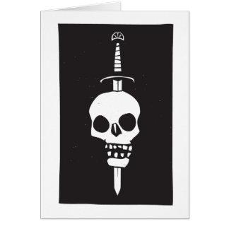 Skull Impaled on a Sword Dark Greeting Card