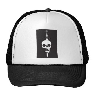 Skull Impaled on a Sword Dark Trucker Hat