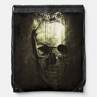Skull Imprint Draw-string back-pack Cinch Bags