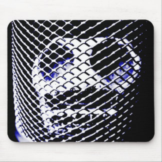 skull in a cage mouse pad