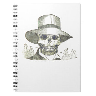 Skull in a Panama Hat Spiral Note Book