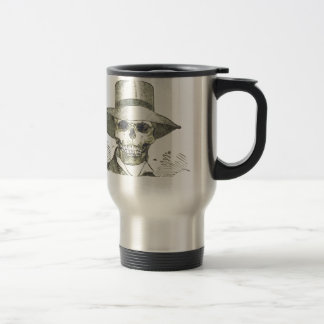 Skull in a Panama Hat Travel Mug