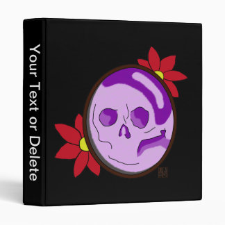 Skull in a Purple Stone with Flowers Binder