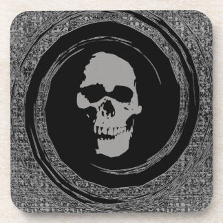 Skull in a Void Beverage Coaster