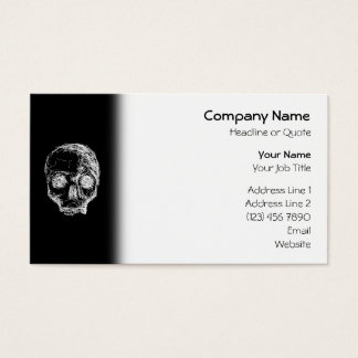 Skull in Black and White. Business Card