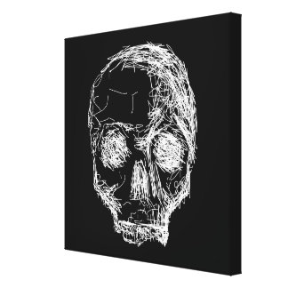 Skull in Black and White. Canvas Print