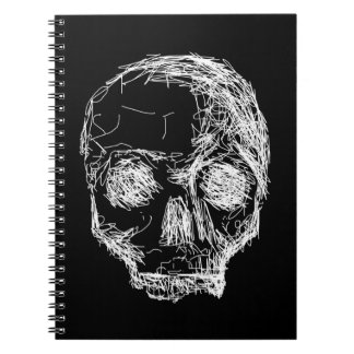Skull in Black and White. Note Book