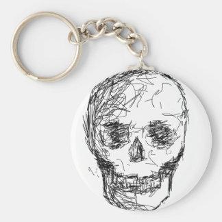 Skull, in Black. Keychains