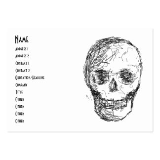 Skull, in Black. Large Business Card