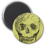 Skull, in Black. Magnet