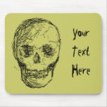 Skull, in Black. Mouse Pads