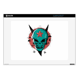 "Skull in cartoon style. skin for 15"" laptop"