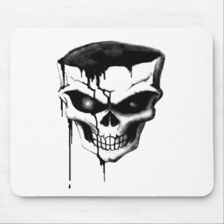 """Skull in charcoal"" (AOM Design) Mouse Pad"